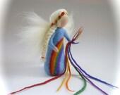 Rainbow Fairy,Doll. Hand-felted. Wet  felted.Waldorf.