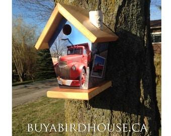 Custom Birdhouse(Red Pick up Truck) Birdhouse