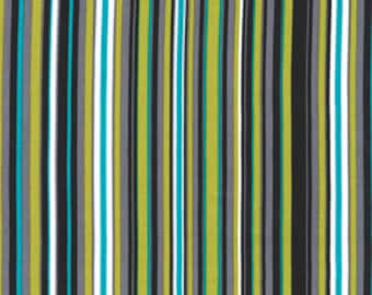 1 YARD- Michael Miller Play Stripe in Lagoon
