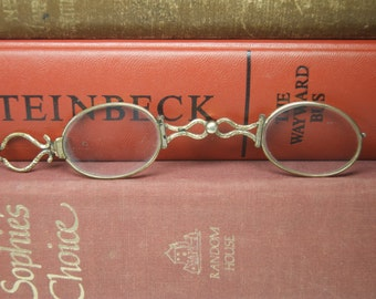 SALE! Edwardian Lorgnette Reading Glasses with Oval Lenses