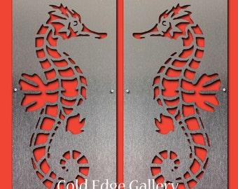 Seahorse Wall Art, Seahorse, Ocean Decor, Beach Art, Sea Art, Beach Decor, Metal Wall Art, Sea Life Art, Ocean Art, Seahorse Metal Wall Art