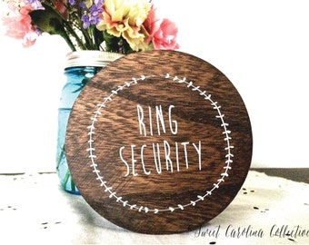 Rustic Ring Box   Wedding Ring Box   Wedding Ring Holder   Rustic Wedding Box with Burlap Pillow and Ribbon   Ring Box -  RB-1