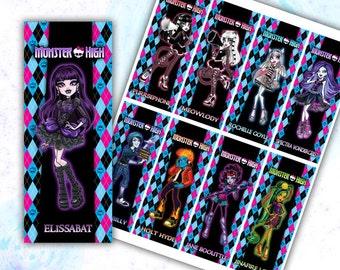 Monster High Bookmarks Printable
