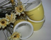 Hall Pottery Cups Yellow Hall Pottery Containers Yellow Pottery
