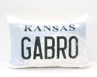 "license plate pillow, christmas gift, custom pillow, housewarming gift, wedding gift, anniversary gift, gift for her - ""The License Plate"""