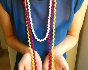 Twisted crochet necklace