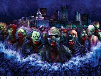 Pittsburgh Zombies and Fiends 11X17 Signed Poster