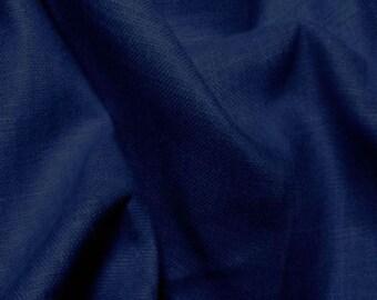 Linen Fabric By the Yard Camiso Lino 5oz INDIGO Eruopean Linen