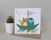 Owl and the Pussycat Card