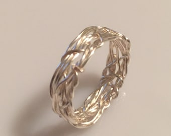 Coiled wedding ring Etsy