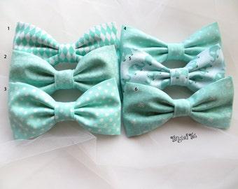 Seafoam Wedding Bow Ties, Surf Green Bow Tie, Wedding Bow Ties, Coordinated Wedding Bow Ties,