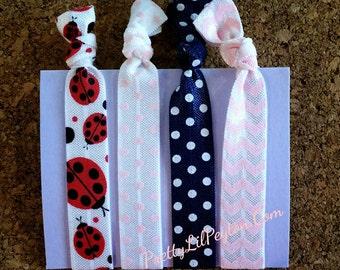 Set of 4 Hair Tie Bracelets
