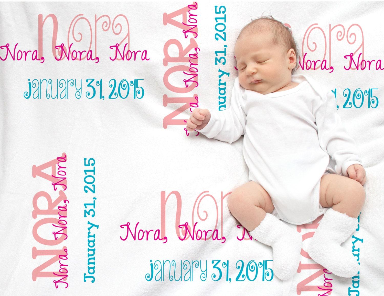 Baby Gift Monogram : Personalized baby gift monogrammed blanket fleece
