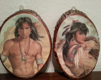 Pair of Indian Wall Plaques