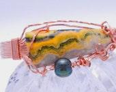 Bracelet - Bubble Bee Jasper in Copper