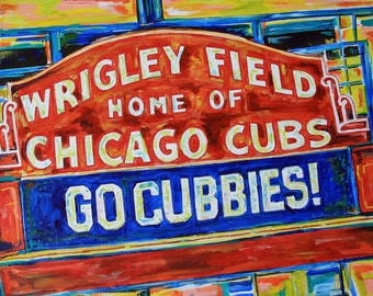 Wrigley Field Pop Art Print