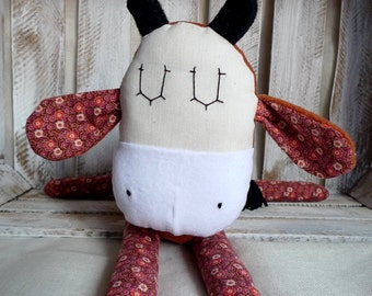 Stuffed Animal Cute Cow  Cotton Safe Soft Softie BabyToy for Children
