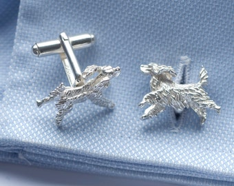 Spaniel Cufflinks in Sterling Silver