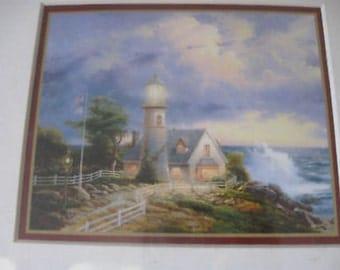 Thomas Kincaide A Light In The Storm 4.5X5.5 Framed w COA  CL27-48