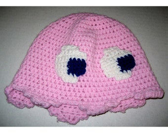 Video Game Ghost Hat - Pink, Sun-hat Style
