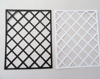 Lattice Frames set of 6 Cardstock Die Cuts