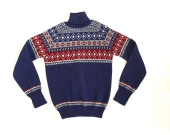 Vintage 70s new nordic boys sweater size 8 y unworn
