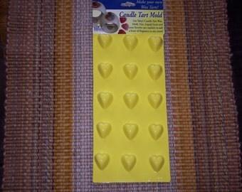 Candle Tart mold,tiny hearts,Yaley,15 cavity mold,fragrance tarts,wax tart