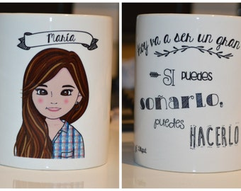 Personalized portrait mug - LILLYPUT STYLE