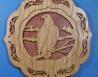 Eagle Plate Plaque Cut On Scroll Saw