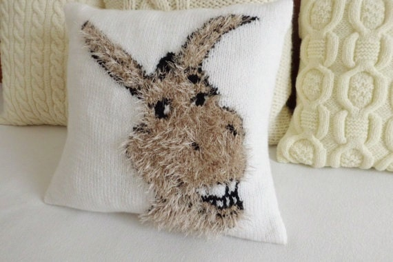 Donkey Kids Room Pillow Fluffy Knit Pillow Cover Shrek