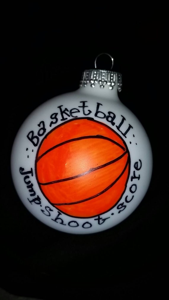 Christmas Toys Basketball : Personalized basketball ornament hand painted by shopmetamora