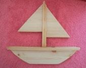knife holder, sailboat shaped, nautical, beach, lake house, kitchen, utensil holder,