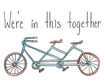 Tandem Bicycle Card