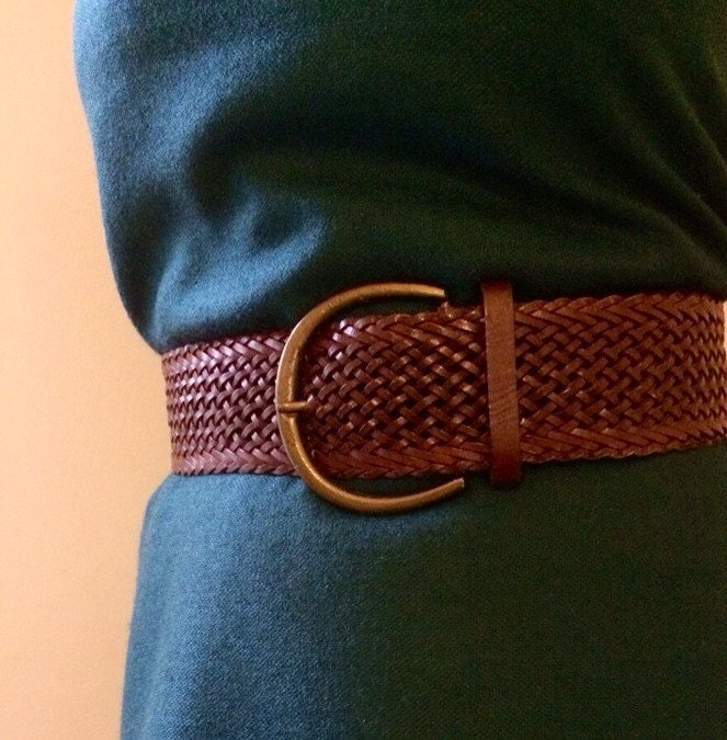 wide leather belt braided leather belt brown leather belt