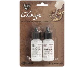 Vintaj Matte & Gloss Mini Glaze Sealer - Patina Extender - Ranger - 0.5 oz each - 323814