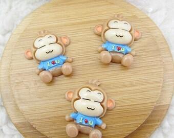 15pcs DIY Monkey Kawaii flat back resin cabochon Cartoon Decoden