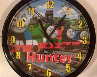 Personalized Thomas the Train Wall Clock