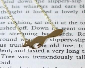 Mini Fox Necklace Silver Fox Necklace Gold Fox Necklace Fox Jewellery Woodlands Jewellery Animal Necklace