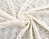 Oatmeal Butterfly Road Cotton Sweater Knit Fabric - 1 Yard Style 6438
