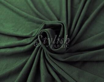Hunter Green  Heavyweight Rayon Jersey Spandex Knit Fabric by the Yard - 1 Yard Style 406