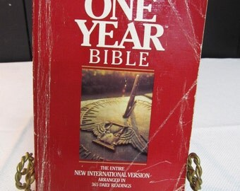 65% OFF!!! The One Year Bible in New International Version, circa 1986 T