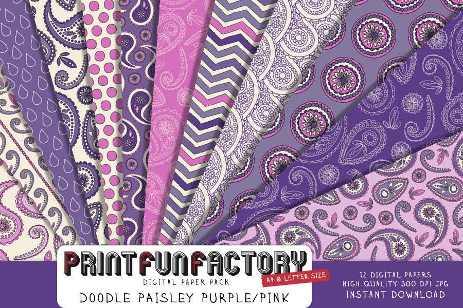Flower Paisley Paper Print Fun Factory