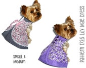 Lily Mae Dog Dress Pattern 1726 * Small & Medium * Dog Clothes Sewing Pattern * Dog Harness Dress * Designer Dog Clothes * Dog Apparel
