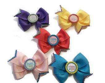 Party Favor Set of 5 Thank You Bows (4 inches)