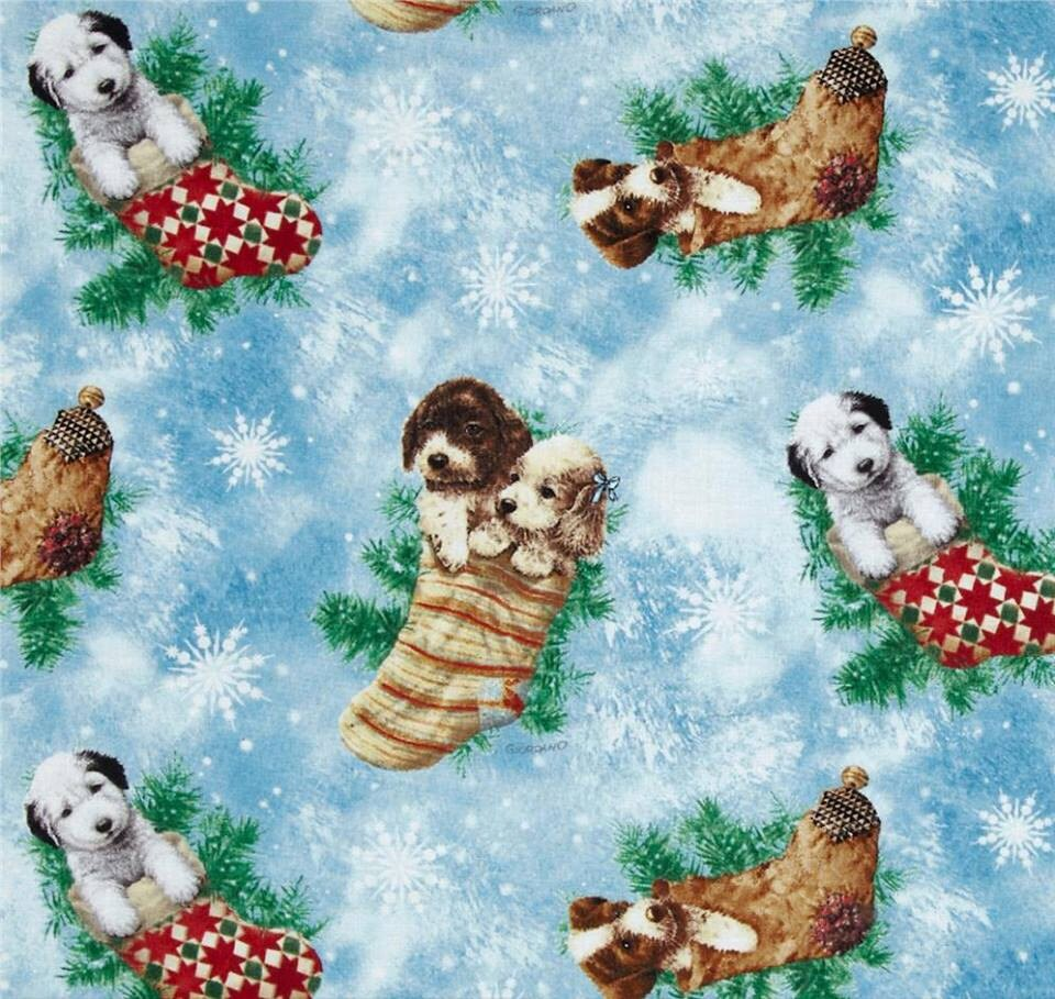 Christmas Dog Fabric Australia