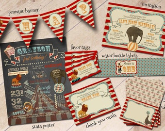 Vintage Circus First Birthday Party Package