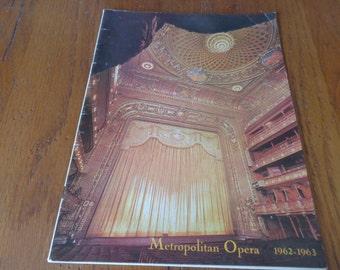 """Vintage Metropolitan Opera """"La Traviata"""" April 6, 1963, 1962-63 Season Souvenir Program - Metropolitan Opera House Memorabilia - La Traviata"""
