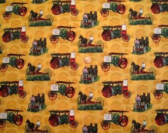 """Wagon print fabric - (44"""" x half  yd ) - x 1"""
