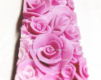 Rose loaf silicone soap mold, silicone soap mold, cake silicone mold, handmade soap mold, flower loaf mold
