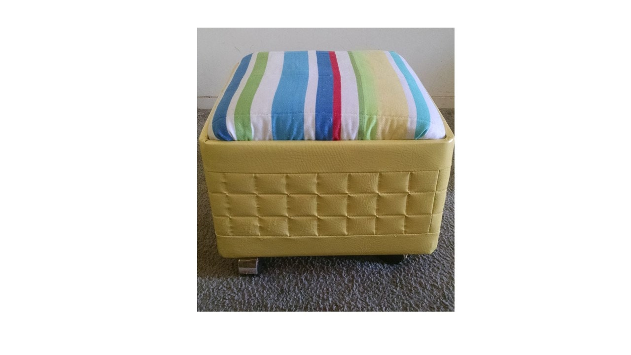 Admirable Mid Century Storage Ottoman Sewing Box Atomic Footstool Inzonedesignstudio Interior Chair Design Inzonedesignstudiocom